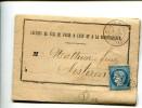 MEYRARGUES Bouches Du Rhône CAD Du 6.7.1872 + GC 2344 Sur 25c Céres PLI GARE DE MEYRARGUES   Chemin De Fer ......G - Poststempel (Briefe)