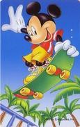 Télécarte Japon / 110-205507 - DISNEY Mickey Skate Board / Dai Ichi Life - Japan Phonecard Telefonkarte Assu - Disney