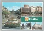 Praha - Prague - Vaclav Square - National Assembly Building - Pedestrian Zone Mustek  Czechoslovakia - Czech - Used 1989 - Czech Republic