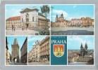 Praha - Prague - Hybernu Palace - Old Town Squre - Powder Tower - Parizska Street - Czechoslovakia - Czech - Used 1989 - Czech Republic