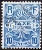 Réunion Obl. N° Taxe  7 - Emblème 10cts  Bleu - Timbres-taxe