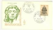 ITALIA FDC - VENETIA - ANNO 1971 -  TEMPIETTO DI BRAMANTE A SAN PIETRO IN MONTORIO IN ROMA -  ROMA FILATELICO - - 6. 1946-.. Repubblica