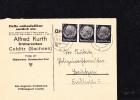 """DR 33 Bis 45: DS-Karte Mit Dreierstreifen 1 Pfg """"Hindenburg"""" Aus Colditz (Sachsen) 26.3.40, Knr: 512 (3) BM-Haus A.Kurth - Deutschland"""