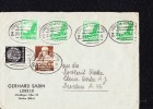 """DR 33 -45: Fern-Doppel-Brief Mit 3 Pfg """"Berufsstände"""" Bahnpoststempel LÜBECK-LÜNEBURG ZUG 251, 20.2.35  Knr: 556u.a - Deutschland"""