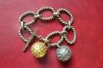Bracelet Fantaisie - Vintage - Métal Argenté Et Doré - Bracelets