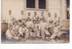25055 Carte Photo Camp De Coetquidan -soupe Repas - Tréganteur - Militaria Soldat