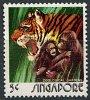 (cl. 4 - P.3) Singapour ** N° 201 - (ref. Michel Au Dos) - Orang Outan, Tigre - - Singapur (1959-...)