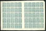 Russia Russland Fernost Far East 1921 Michel 30 A As 50-block (half Of A Sheet) With Gutter MNH - Sibérie Et Extrême Orient