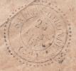 1867 LETTRE T22 SALLES-GIRONDE AU VERSO LETTRE DE BORDEAUX / 6111 - Marcofilia (sobres)