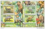 BURUNDI 2014 ** 2 S/S DELUXE Wild Dogs Wildhunde Chiens Sauvages A1503 - Honden