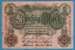 DEUTSCHES REICH 50 MARK 21.4.1910  ALPHA C.5297165   SERIAL # 7 DIGITS - [ 2] 1871-1918 : German Empire