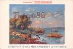 Compagnie Des Messageries Maritimes  - Le Lac Victoria Nyanza - Illustration Maurice Lévis - 2 SCANS - Rwanda