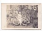 25081 Carte Photo- Tréganteur Ploermel -militaria Soldat Infirmiere Blessé Hopital