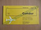 CONDOR FLUGDIENST passenger ticket billet flugticket MUC - LPA - MUC