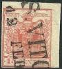 1850 - LOMBARDO VENETO - 15 CENT. - 6 - SAN VITO - P. 4 - VARIETA' - SIGNED - SPL - EURO 40,00 - Lombardo-Venetien
