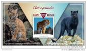 GUINEA BISSAU 2015 ** S/S Big Cats Raubkatzen Puma Tiger A1513 - Big Cats (cats Of Prey)