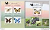 GUINEA REP. 2014 ** M/S + S/S Butterflies Schmetterlinge Papillons Mariposas A1450 - Schmetterlinge