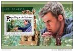 GUINEA REP. 2015 ** S/S Chess Schach Carlsen Kasparov - OFFICIAL ISSUE - F1529 - Schaken