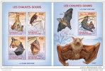 IVORY COAST 2014 ** M/S + S/S Bats Fledermäuse Chauves-souris A1414 - Bats