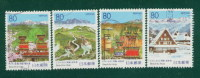 Gifu [Hida Takayama - Seasons] 1995 R170--173] Letter Pin 4 Full - 1989-... Imperatore Akihito (Periodo Heisei)