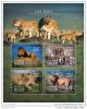 NIGER 2014 ** S/S 4v Lions Löwen Panthera Leo A1504 - Raubkatzen