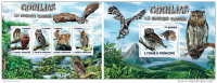 SAO TOME 2015 ** M/S + S/S Owls Eulen Hiboux Corujas - OFFICIAL ISSUE - S1524 - Owls