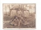 25091 Photo-  Tréganteur Ploermel - Militaria Soldat - Guerre De 1914 -1918 Soldat 129 E Casernement - Guerre, Militaire