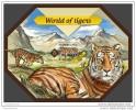 SOLOMON ISLAND 2014 ** S/S Tigers Tiger Tigre A1439 - Big Cats (cats Of Prey)