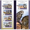 SOLOMON ISLAND 2015 ** Australian Owls Eulen Hiboux M/S + S/S - OFFICIAL ISSUE - A1535 - Eulenvögel