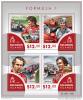 SOLOMON ISLAND 2015 ** Formula 1 Formel 1 Senna Lauda Ascari Prost M/S - OFFICIAL ISSUE - A1541 - Cars