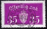 Norway 1933  Minr.17 II   34mm X18,5mm   GADERMOEN  16-3-1939    (  Lot  C 333 ) - Service