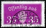 Norway 1933  Minr.17 II   34mm X18,5mm KRISTIANSAND   (  Lot  C 338 ) - Service