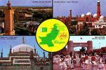 Divers     H4     Contour Géographique , 4 Vues ,greetings From Pakistan - Pakistan