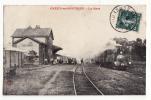 80  CRECY   La Gare    Passage Train - Crecy En Ponthieu