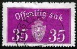 Norway 1933  Minr.17 II   34mm X18,5mm    (  Lot  C 345 ) - Service