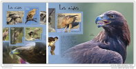 TOGO 2014 ** M/S + S/S Eagles Adler Aigle Aguila A1442 - Arends & Roofvogels
