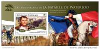 TOGO 2015 ** S/S Battle Of Waterloo Napoleon Bonaparte - OFFICIAL ISSUE - X1520 - Napoleón