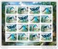 SAO TOME 2014 ** M/S 16v IMP. WWF Blue-breasted Kingfisher Eisvogel Martin-chasseur à Poitrine Bleue A1439 - W.W.F.