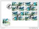 SAO TOME 2014 FDC M/S 16v IMP. WWF Blue-breasted Kingfisher Eisvogel Martin-chasseur à Poitrine Bleue A1439 - W.W.F.