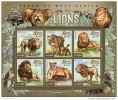 SIERRA LEONE 2015 ** M/S Lions Löwen - OFFICIAL ISSUE - A1527 - Raubkatzen