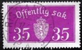 Norway 1933  Minr.17 II   34mm X18,5mm  KRISTIANSANDS  (  Lot  C 353 ) - Service