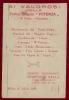 BRIGATA POTENZA 16/MARZO/1919 Prima Guerra Mondiale MENU' PATRIOTTICO MILANO - Guerra 1914-18