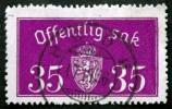 Norway 1933  Minr.17 II   34mm X18,5mm  BODØ   (  Lot  C 356 ) - Service