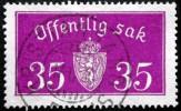 Norway 1933  Minr.17 II   34mm X18,5mm  KRISTANSANDS  (  Lot  C 359 ) - Service