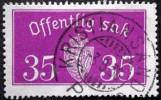 Norway 1933  Minr.17 II   34mm X18,5mm  KRISTANSANDS  (  Lot  C 361 ) - Service
