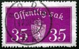 Norway 1933  Minr.17 II   34mm X18,5mm  BODØ  (  Lot  C 364 ) - Service