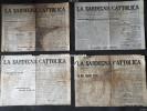 """LOTTO DI 4 NUMERI DEL GIORNALE:""""SARDEGNA CATTOLICA""""-DEL 1935-VEDI SCAN- - Libri, Riviste, Fumetti"""