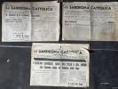 """LOTTO DI 3 NUMERI DEL GIORNALE:""""SARDEGNA CATTOLICA""""-DEL 1939-VEDI SCAN- - Libri, Riviste, Fumetti"""