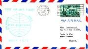 USA. Enveloppe Commémorative Ayant Circulé En 1957. Vol Los Angeles - Paris /Polar Route. - Polar Flights