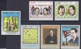 CUBA. JUEGOS/AJEDREZ 1988. Yvert#2864/69. Precio Cat€32.50 - Ajedrez
